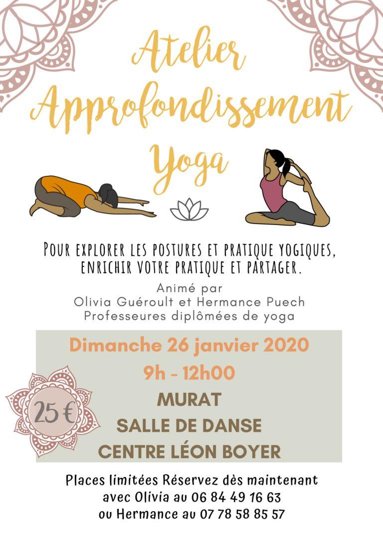 Atelier yoga co-animé avec Olivia Guéroult à Murat dans le Cantal