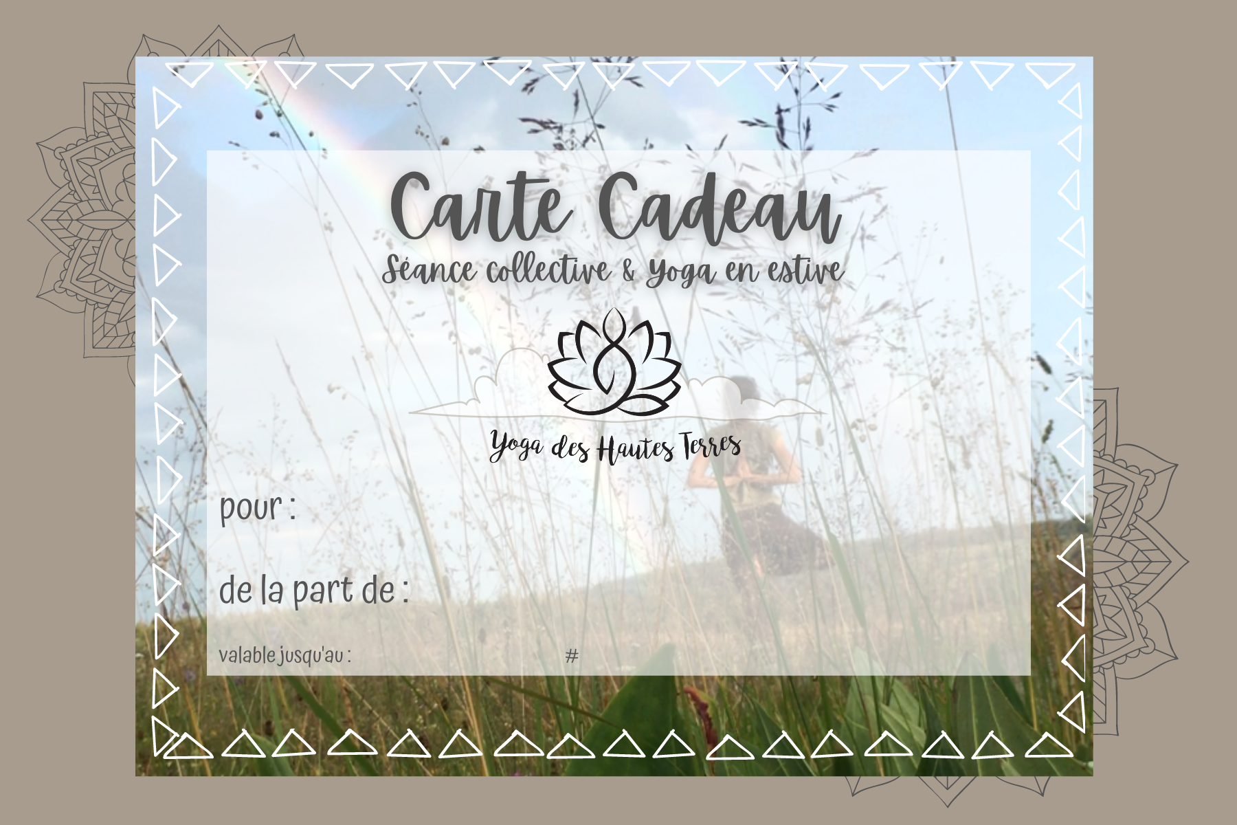 carte cadeau yoga cantal -seance