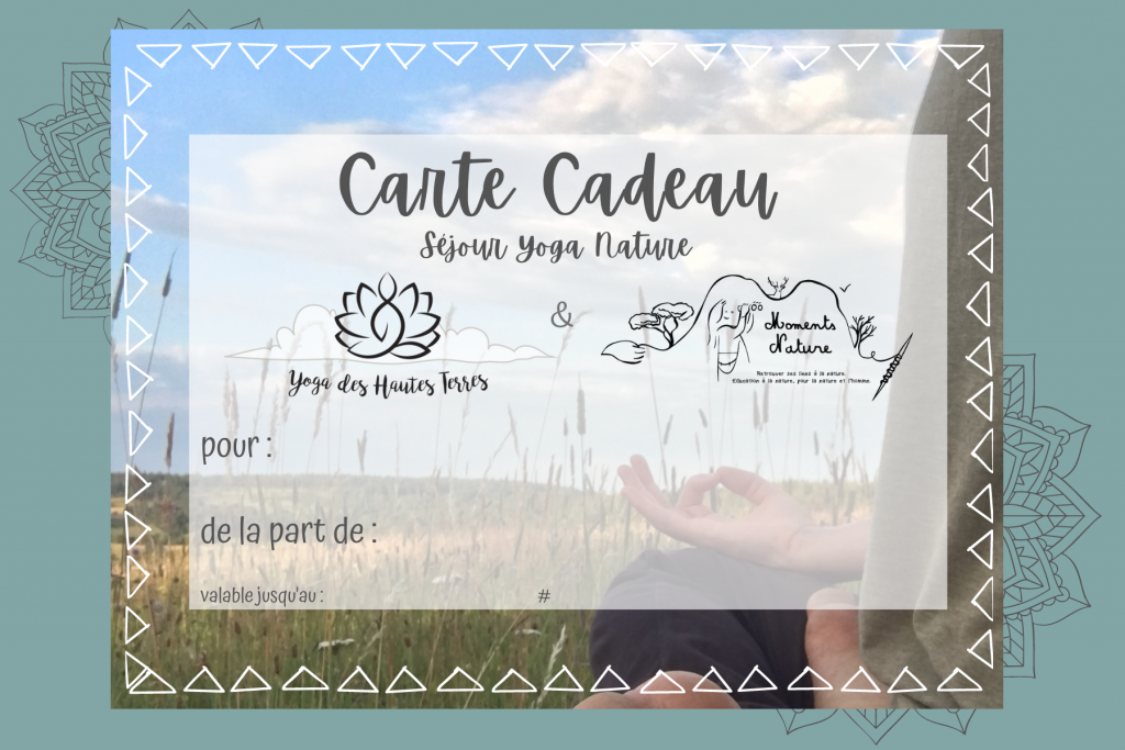 Carte cadeau yoga cantal