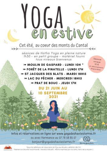Affiche Yoga en estive 2021 -final